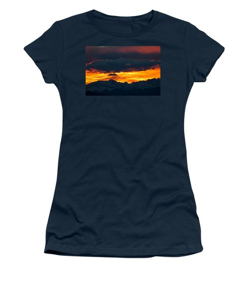 Sky Lava Women's T-Shirt (Junior Cut) by Colleen Coccia