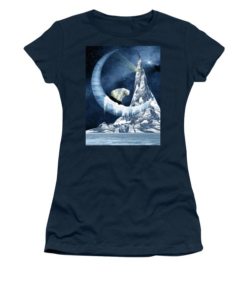 Sliding On The Moon Women's T-Shirt (Junior Cut) by Mihaela Pater