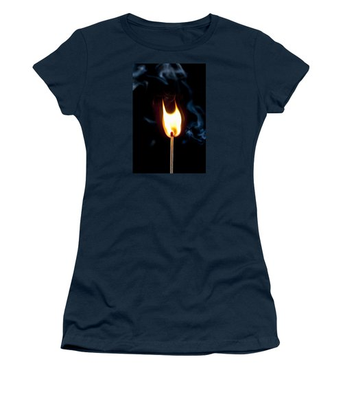 Smoke And Fire Women's T-Shirt (Junior Cut) by Tyson and Kathy Smith