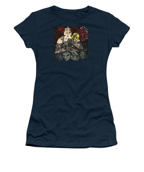 Smoke And Lace Women's T-Shirt (Junior Cut) by Yelena Tylkina