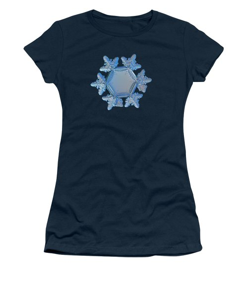 Women's T-Shirt featuring the photograph Snowflake Photo - Sunflower by Alexey Kljatov