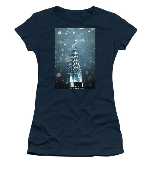 Women's T-Shirt (Athletic Fit) featuring the photograph Snowy Spires by Az Jackson