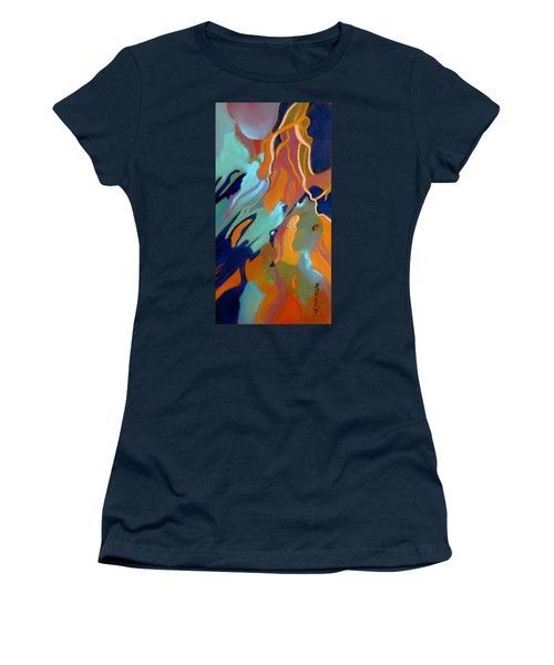 Women's T-Shirt (Junior Cut) featuring the painting Source by Rae Andrews