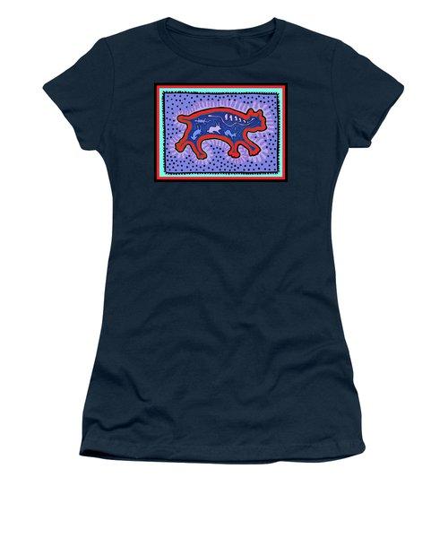 Women's T-Shirt (Athletic Fit) featuring the digital art Southwest Desert Feral Cat by Vagabond Folk Art - Virginia Vivier