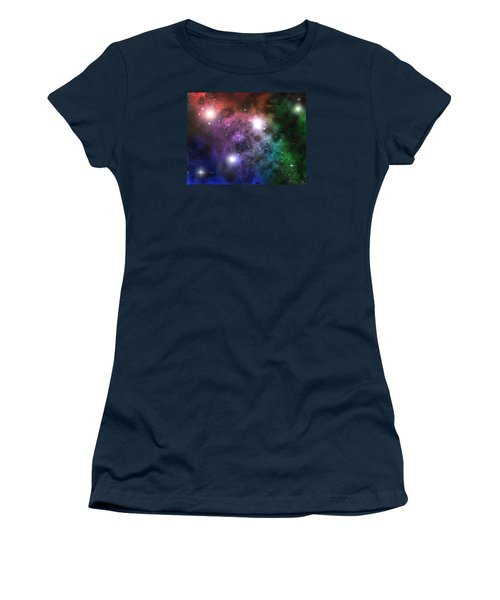 Women's T-Shirt (Junior Cut) featuring the digital art Space Clouds by Phil Perkins