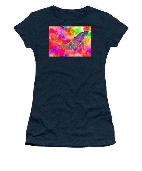 Spirit Whale Women's T-Shirt (Junior Cut) by Nick Gustafson