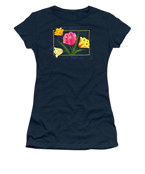 Splash Of Tulips Women's T-Shirt (Junior Cut) by Jo Baner