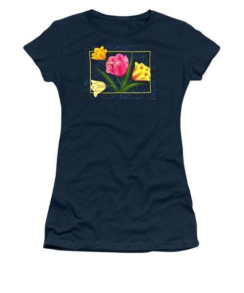 Splash Of Tulips Women's T-Shirt (Athletic Fit)
