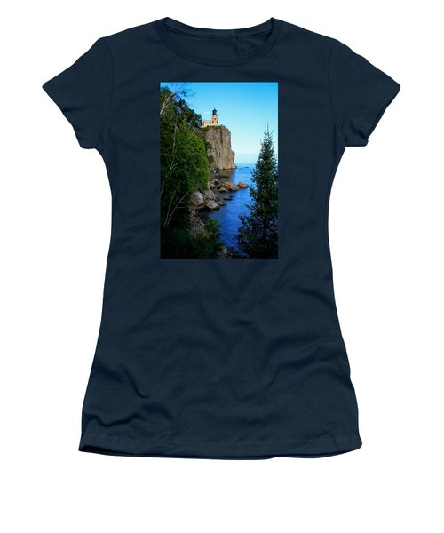 Split Rock Lighthouse Women's T-Shirt (Athletic Fit)