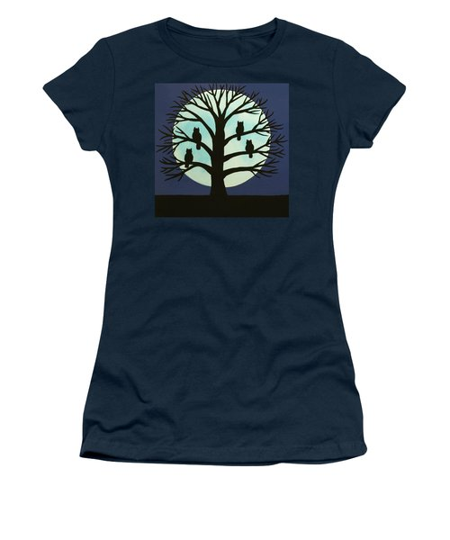 Spooky Owl Tree Women's T-Shirt