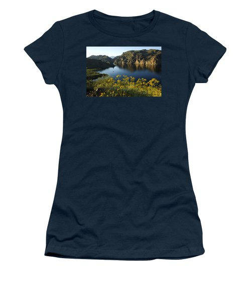 Spring Morning At The Lake Women's T-Shirt (Junior Cut) by Sue Cullumber