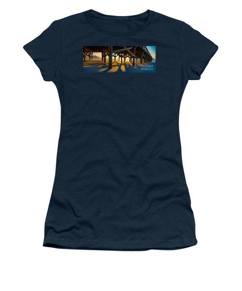 Springmaid Pier At Sunrise Women's T-Shirt