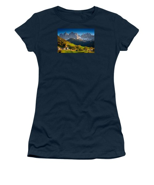 St. Magdalena Alpine Village In Autumn Women's T-Shirt (Junior Cut) by IPics Photography