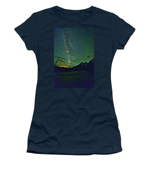 Starry Night Over The Tetons Women's T-Shirt