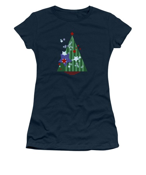 Stars And Stripes - Christmas Edition Women's T-Shirt (Athletic Fit)