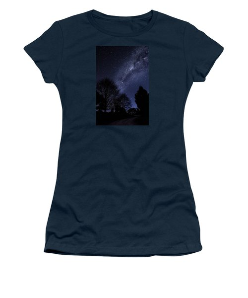 Stars And Trees Women's T-Shirt (Junior Cut) by Martin Capek