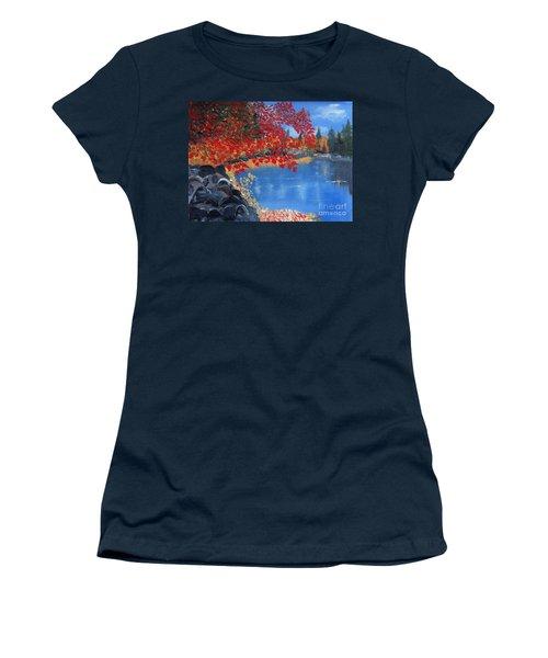 Start Of Fall Women's T-Shirt (Junior Cut) by Rod Jellison