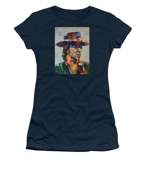 Stevie Ray Vaughan Women's T-Shirt (Junior Cut) by Steve Hunter