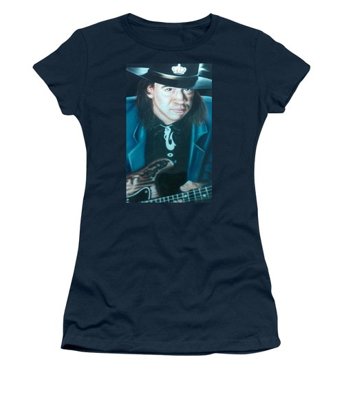 Stevie Ray Vaughn Women's T-Shirt (Junior Cut) by Darren Robinson
