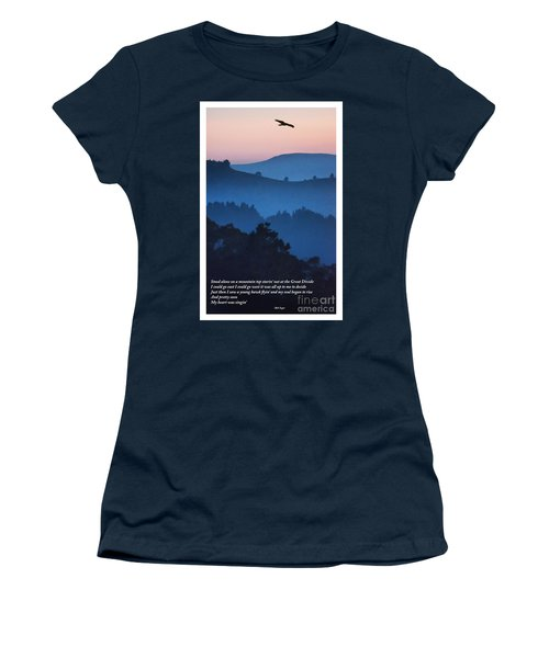 Stood Alone On The Mountain Top Women's T-Shirt (Athletic Fit)