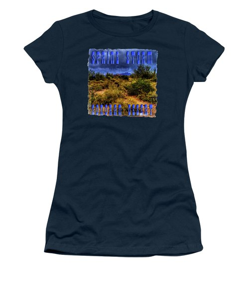 Storm Clouds Over The Sonoran Desert In Spring Women's T-Shirt (Athletic Fit)