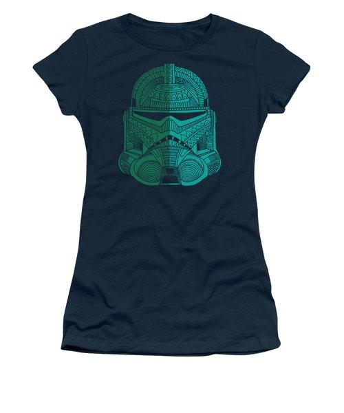 Stormtrooper Helmet - Star Wars Art - Blue Green Women's T-Shirt