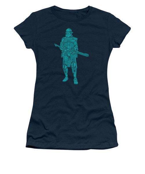 Stormtrooper Samurai - Star Wars Art - Blue 03 Women's T-Shirt