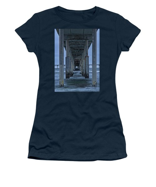 Stormy Pier In Ocean Beach Women's T-Shirt