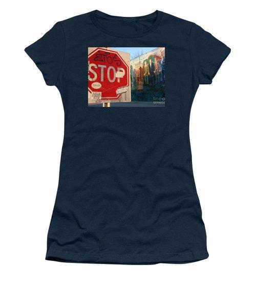 Street Art Washington D.c.  Women's T-Shirt (Junior Cut) by Clay Cofer
