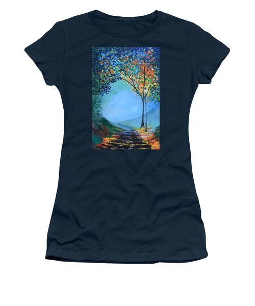 Women's T-Shirt (Junior Cut) featuring the painting Street Lamp by Gary Smith