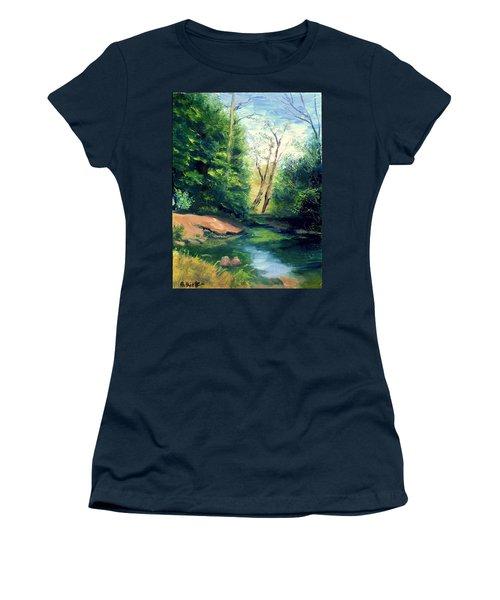 Summer At Storm Women's T-Shirt (Junior Cut) by Gail Kirtz