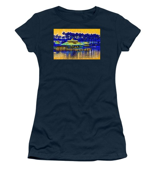 Sunrise At The Boat Dock Women's T-Shirt (Junior Cut) by Kirt Tisdale