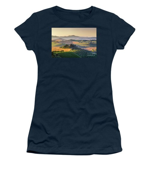 Sunrise In Tuscany Women's T-Shirt (Junior Cut) by JR Photography