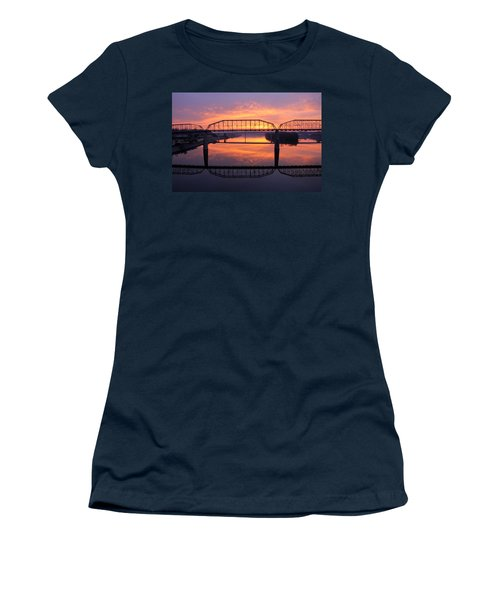 Sunrise Walnut Street Bridge 2 Women's T-Shirt (Athletic Fit)