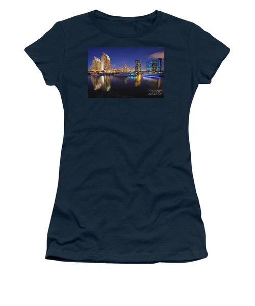 Sunset At Embarcadero Marina Park In San Diego Women's T-Shirt