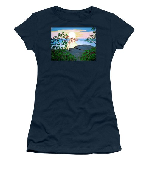 Women's T-Shirt (Junior Cut) featuring the painting Sunset In Jamaica by Stephanie Moore