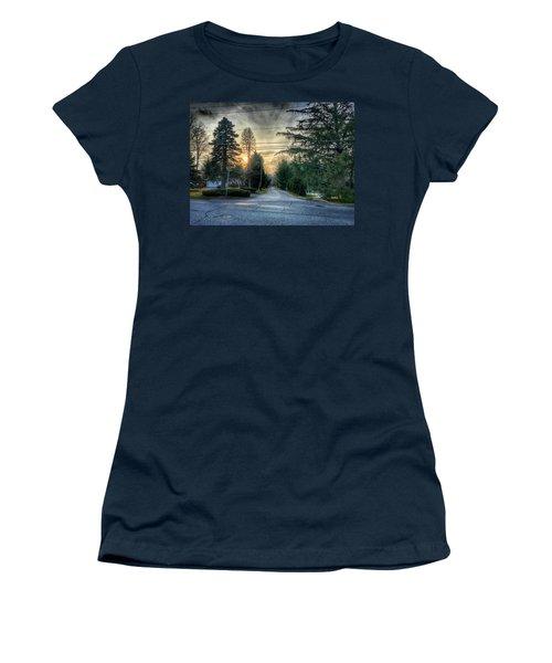 Sunset On Hilltop Drive Women's T-Shirt