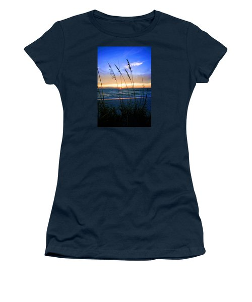 Sunset Thru The Sea Oats At Delnor Wiggins Women's T-Shirt (Junior Cut) by Robb Stan