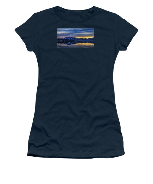 Sunset Timber Cove Women's T-Shirt (Junior Cut) by Mitch Shindelbower