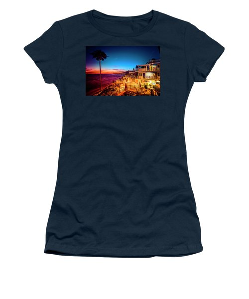 Sunset Twilight At The Laguna Riviera Women's T-Shirt (Athletic Fit)