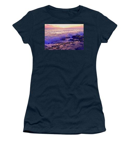 Sunset, West Oahu Women's T-Shirt (Junior Cut) by Susan Lafleur