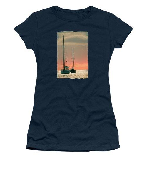 Sunset Yachts Women's T-Shirt (Junior Cut) by Konstantin Sevostyanov