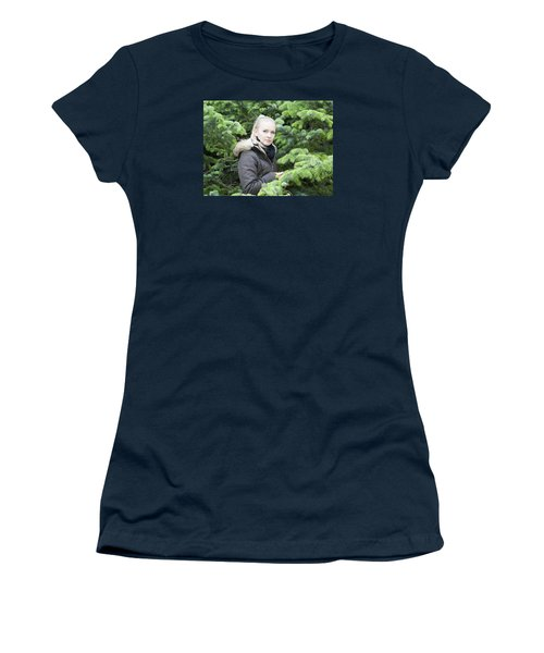 Surrounded By Trees Women's T-Shirt (Athletic Fit)