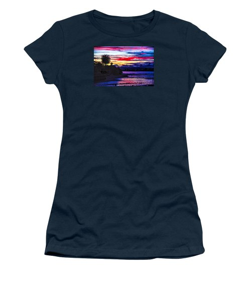 Women's T-Shirt (Junior Cut) featuring the photograph Suset Beach by Rick Bragan