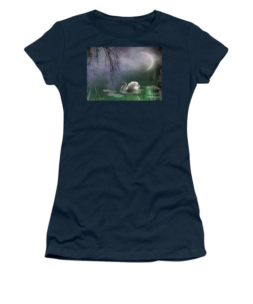 Swan By Moonlight Women's T-Shirt