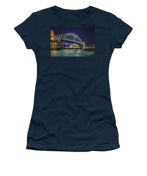 Sydney Harbor Bridge At Night Women's T-Shirt