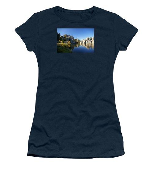 Sylvan Lake, Custer South Dakota Women's T-Shirt (Junior Cut) by Karen Cade