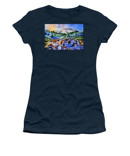 Women's T-Shirt (Athletic Fit) featuring the painting Symphony Of Silence by Hanne Lore Koehler