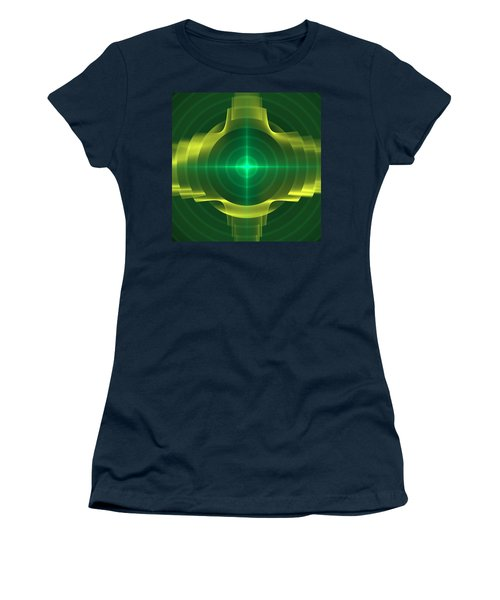 Women's T-Shirt (Junior Cut) featuring the digital art Target by Svetlana Nikolova