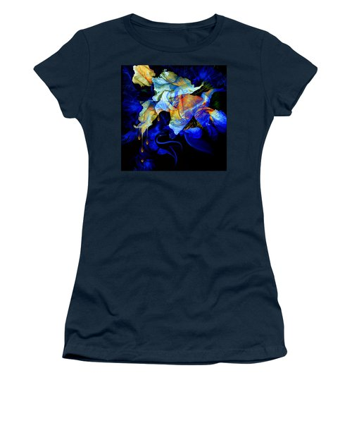 Women's T-Shirt (Athletic Fit) featuring the painting Tears In My Garden by Hanne Lore Koehler